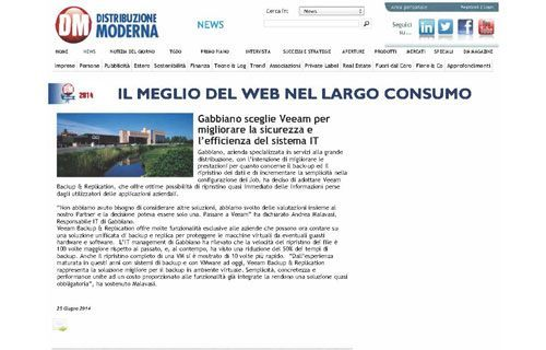 Gabbiano e Veeam per l'efficienza e la sicurezza del sistema IT